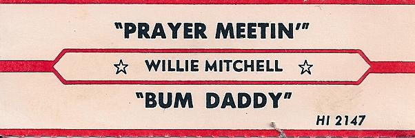 Willie Mitchell Bad Eye Sugar T