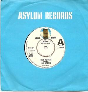 JoniHelpMeUKA, Joni Mitchell, Reprise, Asylum