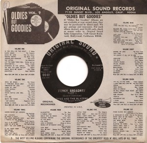 DykeFunky, Dyke & The Blazers, Original Sound, Atlantic, Wilson Pickett