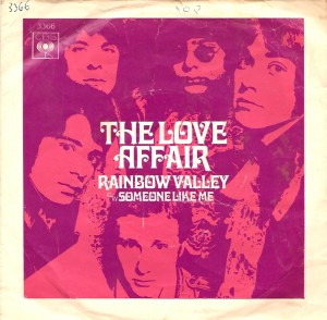 LoveAffairRainbowUKPSFront, The Love Affair, Steve Ellis, CBS, Date