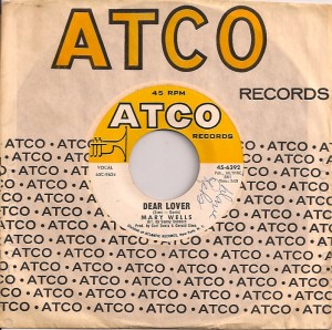 MaryWellsDearLover, Mary Wells, Atco, Carl Davis