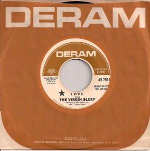 VirginSleepLove, Virgin Sleep, Deram, Noel Walker, Keith Mansfield, Rod Buckle