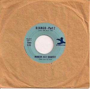MJQDjango2, The Modern Jazz Quartet, Prestige