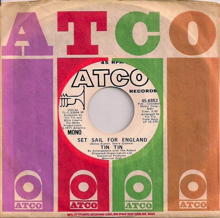 TinTinEngland,  Robert Stigwood, Tin Tin, Maurice Gibb, Atco, Bee Gees