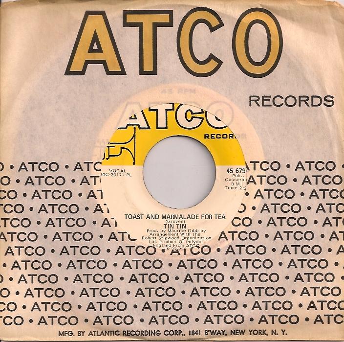 TinTinToast, Robert Stigwood, Tin Tin, Maurice Gibb, Atco, Bee Gees
