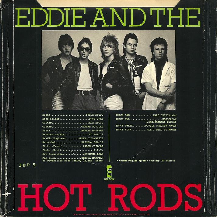 Eddie the hot rods so many records so little time for Jj fish and chips