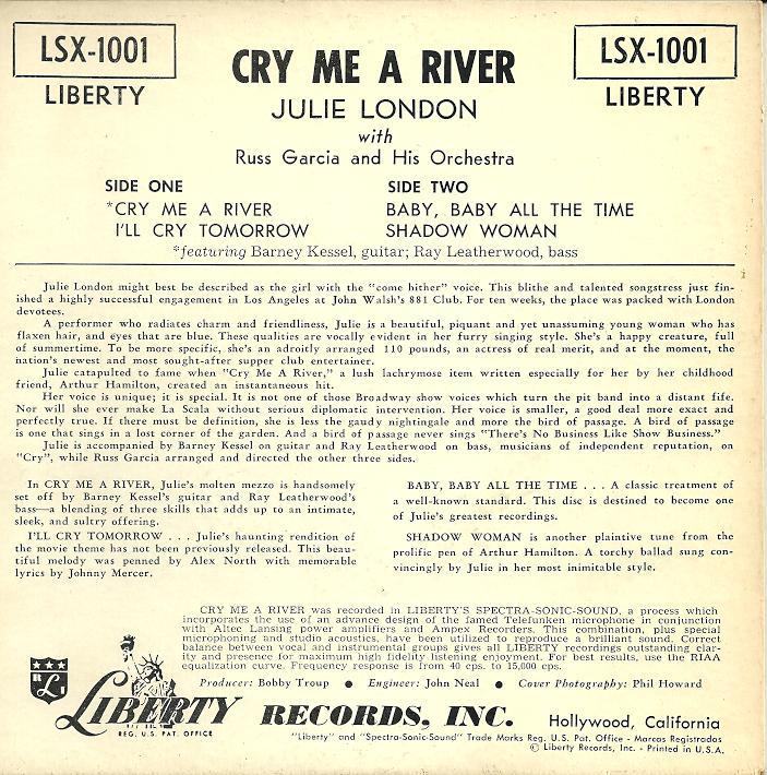 Lyric lyrics to ode to billy joe : Julie London Â« SO MANY RECORDS, SO LITTLE TIME