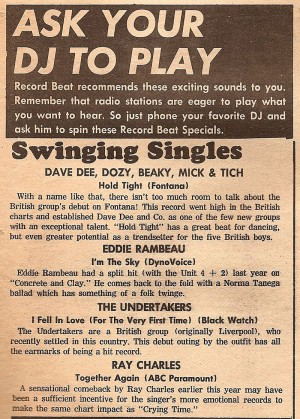 Record Beat Ad 4.26.66