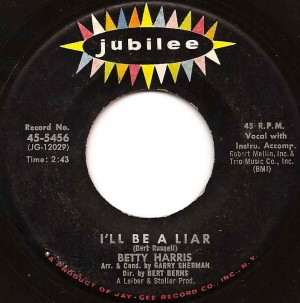 betty-harris-liar, betty harris, jubilee, bert burns, the pretty things, solomon burke, the rolling stones
