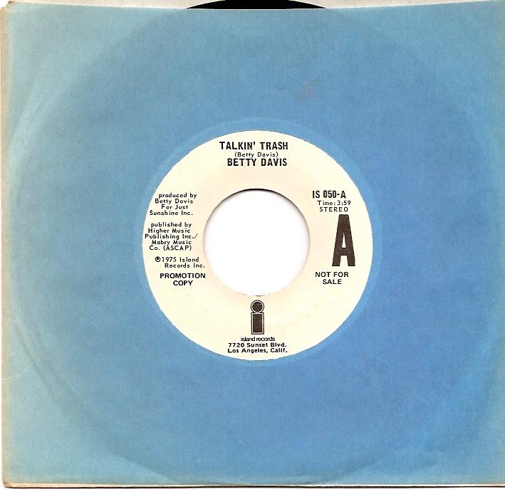 Betty Davis - Talkin' Trash / You And I