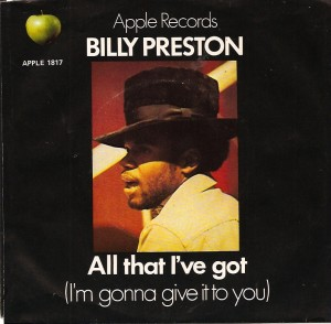 billyprestongotusps, billy preston, apple, george harrison, doris troy, beatles, sue records, capitol, sunny, bobby hebb