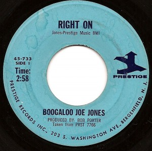 Right On / Boogaloo Joe Jones