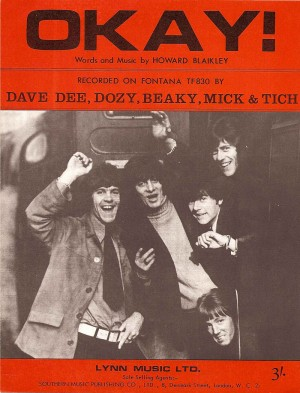 Okay / Dave Dee, Dozy, Beaky, Mick & Tich sheet music