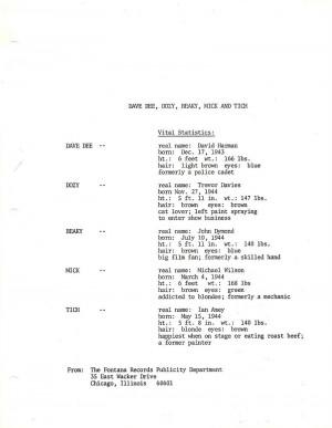 Dave Dee, Dozy, Beaky, Mick & Tich US Bio 9