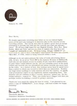 Fontana letter 1
