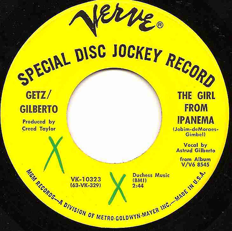 Getz Gilberto The Girl From Ipanema