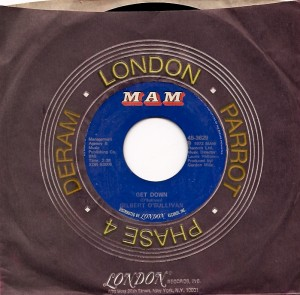 gilbertgetdown, MAM, Gilbert O'Sullivan, Decca, Gordon Mills