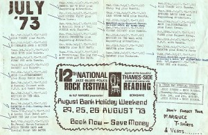Marquee Schedule July 73