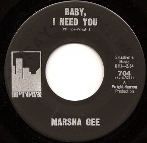 Baby I Need You / Marsha Gee