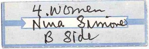 Listen:  Four Women / Nina Simone Juke Box Tab