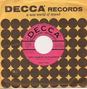patsycline3cigarettesusa, Patsy Cline, Decca, k. d. lang, Sire