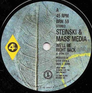 We'll Be Right Back / Steinski & Mass Media